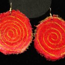 Teresa Goodall Red Swirl Earrings
