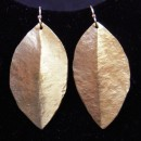 C Lee Hammered Gold Leaf Earrings