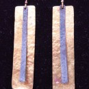 C Lee Mixed Metal Rectangle Earrings
